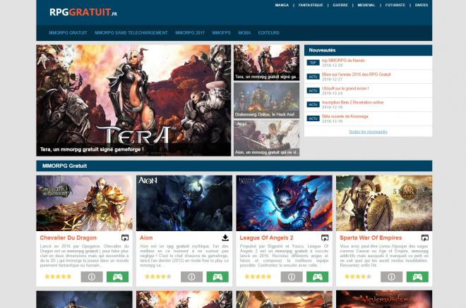 Capture d'écran du site rpggratuit.fr